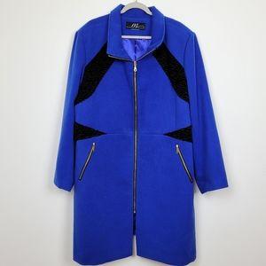 Midnight Velvet plus size coat 3X blue black